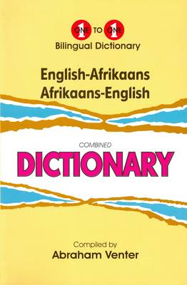 English-Afrikaans & Afrikaans-English One-to-One Dictionary (Hardback)
