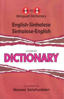 English-Sinhalese & Sinhalese-English One-to-One Dictionary: Script & Roman (Exam Dictionary) (Hardback)