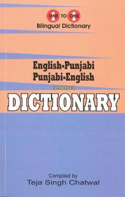 English-Punjabi & Punjabi-English One-to-One Dictionary. Exam Suitable: Script & Roman 2017 (Paperback)