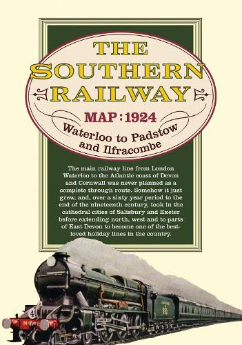 Southern Railway Route Map: from London to Ilfracombe and Padstow (Sheet map)