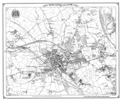 Newcastle Under Lyme Heritage Cartography Victorian Town Map by