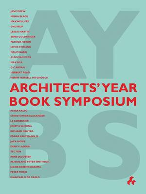 Architects' Year Book Symposium (Paperback)