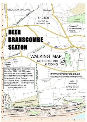 Beer Branscombe Seaton Walking Map (Sheet map, folded)