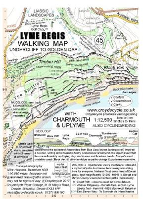 Lyme Regis Walking Map (45): Undercliff to Golden Cap with Charmouth & Uplyme (Sheet map, folded)