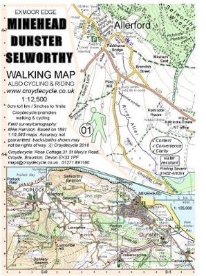Minehead Dunster Selworthy Walking Map (01) (Sheet map, folded)