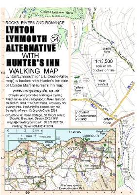 Lynton Lynmouth Alternative with Hunter's Inn Walking Map (54) (Sheet map, folded)