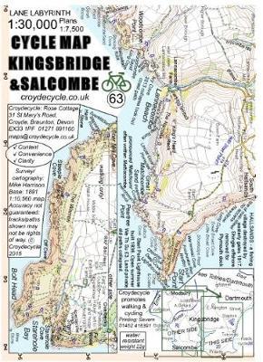 Cycle Map Kingsbridge & Salcombe (63): 1:30,000 (Sheet map, folded)