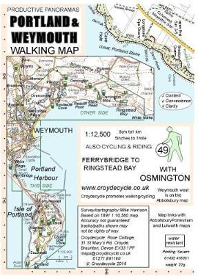Portland & Weymouth Walking Map: Ferrybridge to Ringstead Bay (Sheet map, folded)