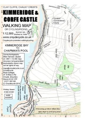 Kimmeridge & Corfe Castle Walking Map: Kimmeridge Bay to Chapman's Pool (Sheet map, folded)