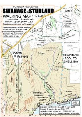 Swanage & Studland Walking Map: Chapman's Pool to Shell Bay (Sheet map, folded)