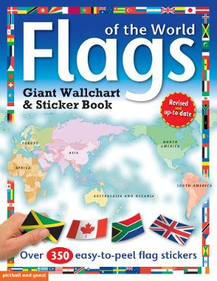 Flags of the World: Giant Wall Chart and Sticker Book (Paperback)