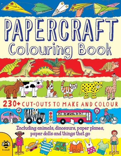 Papercraft Colouring Book - Make & Colour (Paperback)