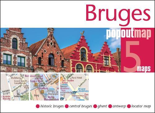 Bruges PopOut Map - PopOut Maps (Sheet map, folded)