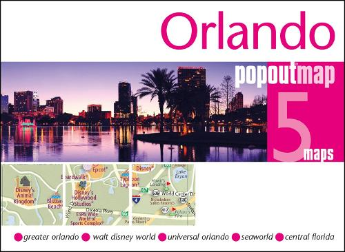 Orlando PopOut Map: Handy pocket size pop up map of Orlando and Walt Disney World Resort - PopOut Maps (Sheet map, folded)