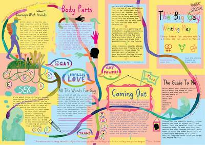 The Big Gay Writing Map: Story Ideas for Anyone Who's a Little Bit Different (Sheet map, folded)