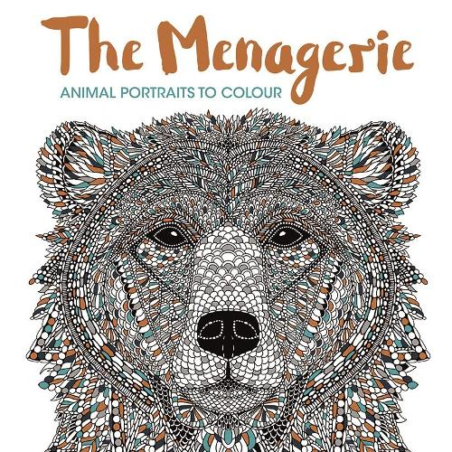 The Menagerie: Animal Portraits to Colour (Paperback)