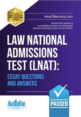 Law National Admissions Test Lnat Essay Questions And Answers By How2become Waterstones