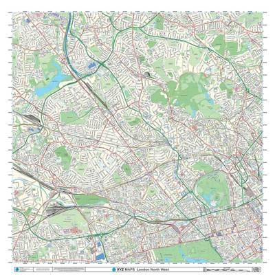 london xyz citymap london north west london street map 2015 sheet map
