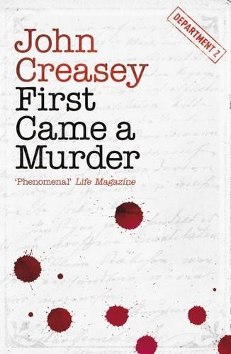 First Came a Murder - Department Z (Paperback)