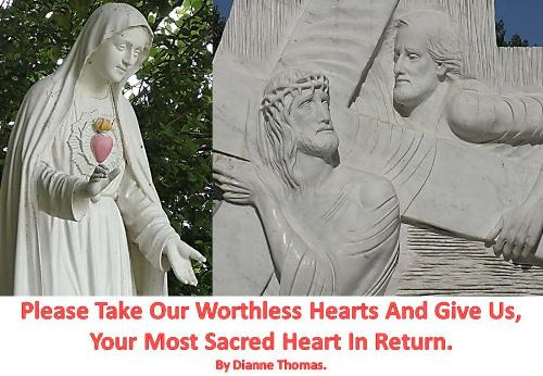 Please Take Our Worthless Hearts And Give Us, Your Most Sacred Heart In Return. (Paperback)
