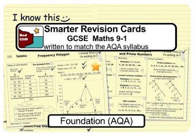 Smarter Revision Cards Book - GCSE Maths 9-1 Foundation (AQA) (Spiral bound)
