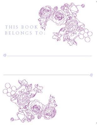 Bookplates - Mauve Assorted Flowers