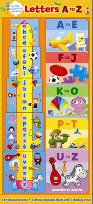 Letters A to Z - Early Learning Blocks & Books Towers (Hardback)