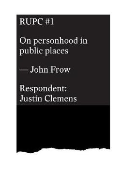 On Personhood in Public Places (Paperback)