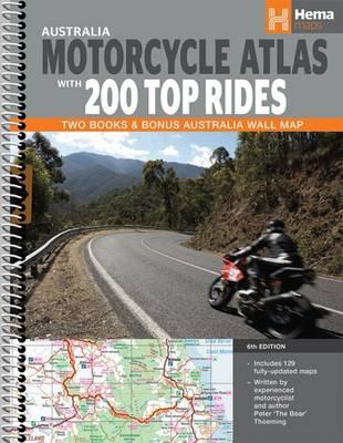 Australia Motorcycle Atlas Spiral 2015: HEMA.A.020SP (Spiral bound)