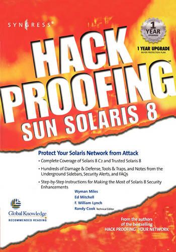 Hack Proofing Sun Solaris 8 (Paperback)