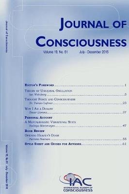 Journal of Consciousness, Number 61 - Journal of Consciousness 61 (Paperback)