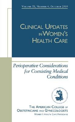 Perioperative Considerations for Coexisting Medical Conditions (Paperback)