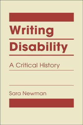 Writing Disability: A Critical History (Hardback)