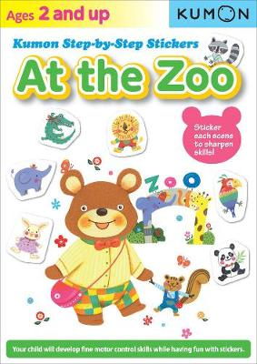 Kumon Step-by-step Stickers: At The Zoo (Paperback)