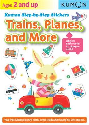 Kumon Step-by-step Stickers: Trains, Planes, And More (Paperback)