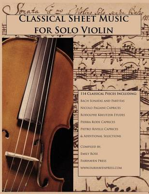 Classical Sheet Music for Solo Violin (Paperback)