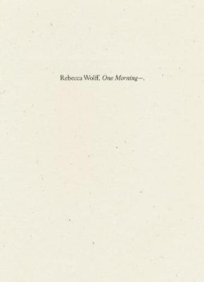 One Morning? (Paperback)