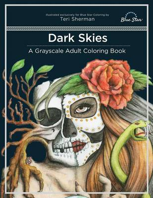 Dark Skies: A Grayscale Adult Coloring Book (Paperback)