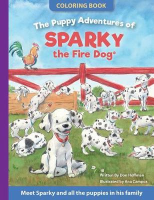 The Puppy Adventures of Sparky the Fire Dog Coloring Book (Paperback)