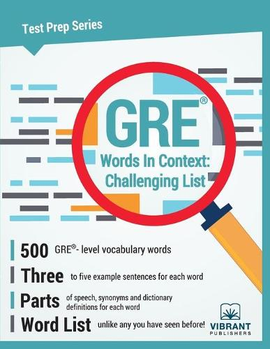 GRE Words in Context -- Challenging List (Paperback)