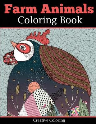 Farm Animals Coloring Book for Adults - Animal Coloring Books for Adults (Paperback)