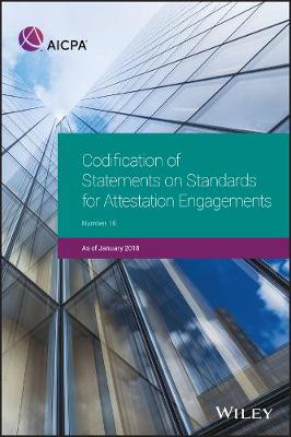 Codification of Statements on Standards for Attestation Engagements, January 2018 - AICPA (Paperback)