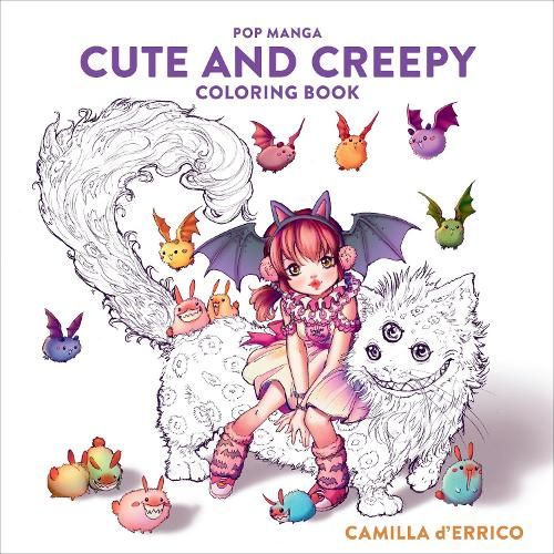 Pop Manga Cute and Creepy Coloring Book (Paperback)