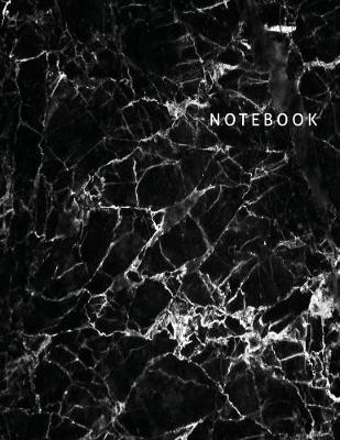 Notebook: Blank Unlined Notebook, Black Marble Cover, Large Sketch Book 8.5 x 11 - Creative Basics Notebooks 1 (Paperback)
