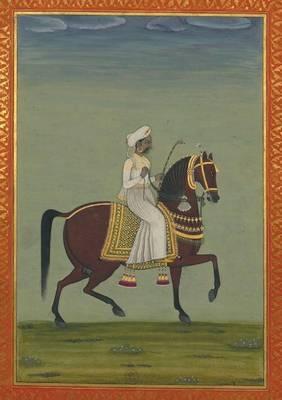 Carnet Blanc, Prince Indien � Cheval, Miniature 18e - Bnf Portraits (Paperback)