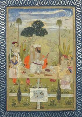 Carnet Blanc, Repas Indien, Miniature 18e - Bnf Portraits (Paperback)