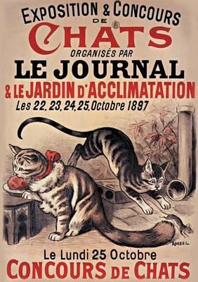 Carnet Blanc, Exposition Et Concours de Chats - Bnf Affiches (Paperback)
