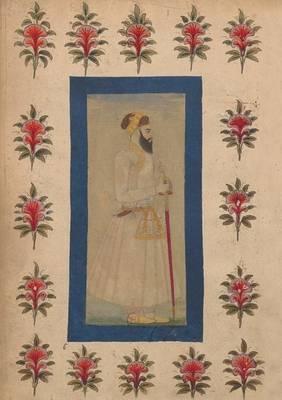 Carnet Blanc, Notable Indien En Pied, Miniature 18e - Bnf Portraits (Paperback)