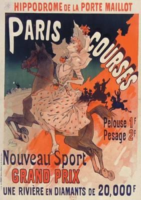 Carnet Blanc, Affiche Hippodrome Porte Maillot Paris - Bnf Affiches (Paperback)
