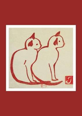 Carnet Blanc Deux Chats, Estampe - Bnf Animaux (Paperback)